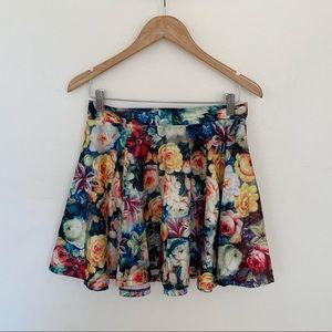 MINKPINK floral satin skirt